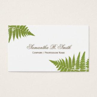 Einfacher grüner Farn-eleganter Waldentwurf Visitenkarte