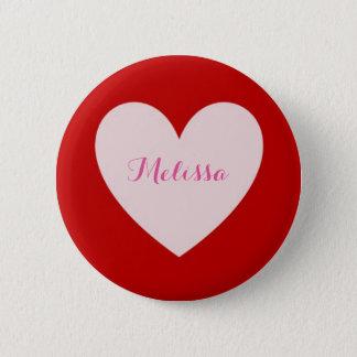 Einfacher Herz-Knopf Runder Button 5,1 Cm