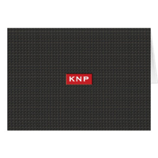 Einfacher mit Monogramm schwarzer Schritt NoteCard Mitteilungskarte