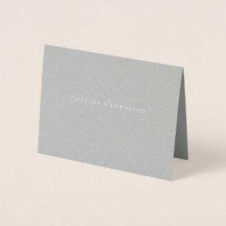 Einfacher Namen-Geschäfts-Briefpapier Folienkarte