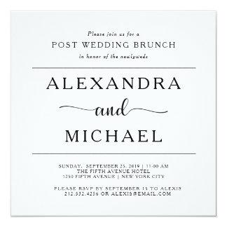 Einfacher Posten-Hochzeits-Brunch der Eleganz-| Karte