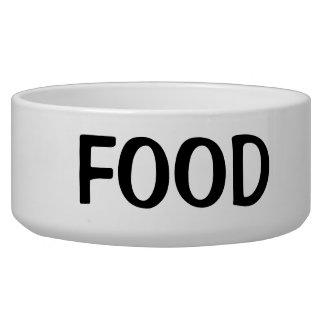 Einfacher schwarzer Nahrungsmitteltext Hundefutter-Napf