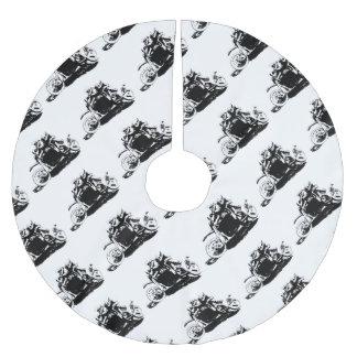 Einfacher Sidecarcross Entwurf Polyester Weihnachtsbaumdecke