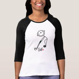 Einfacher Strichmännchen-Golfspieler T-Shirt