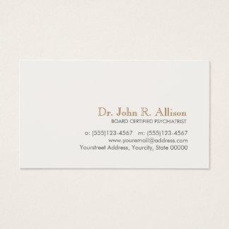 Einfacher und eleganter beruflicher Psychiater Visitenkarte