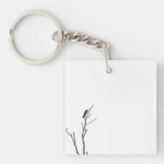 Einfacher Vogel auf einer Niederlassung Keychain Schlüsselanhänger