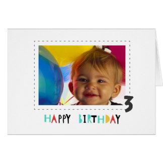 Einfaches alles Gute zum Geburtstag lädt Karte