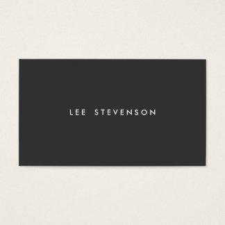 Einfaches berufliches modernes einfaches Schwarzes Visitenkarten