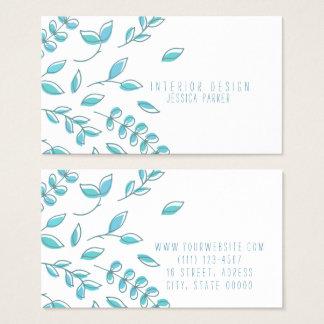 Einfaches blaues Blumen Visitenkarte