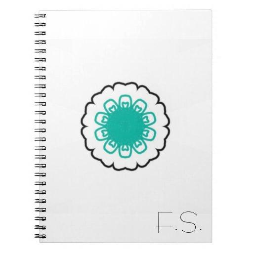 Einfaches Blumen-Initialen-Notizbuch