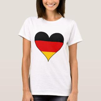 Einfaches Deutschland-Herz T-Shirt