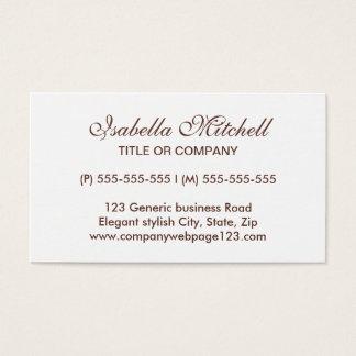 Einfaches elegantes generisches Geschäft oder Visitenkarte