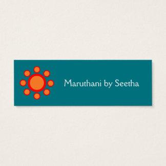 einfaches elegantes Hennastrauchmuster Mini Visitenkarte