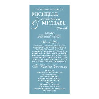 Einfaches elegantes Hochzeits-Programm Individuelle Werbekarte