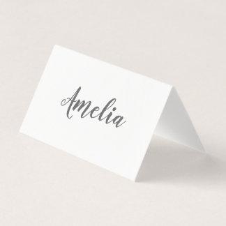 Einfaches elegantes lässiges Typografie-Skript Platzkarte