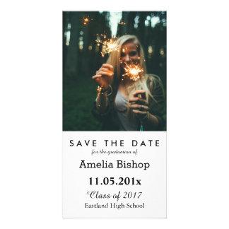 Einfaches graduiertes Foto Save the Date Karte