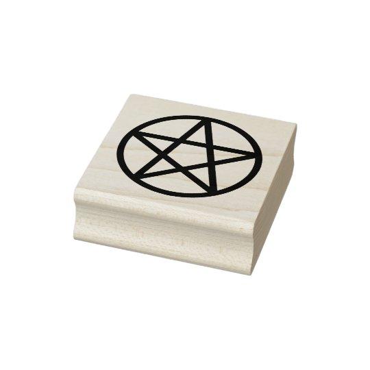 einfaches grafisches pentagramm gummistempel