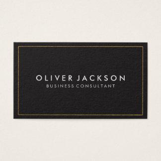 Einfaches Grau mit Goldgrenze Visitenkarte