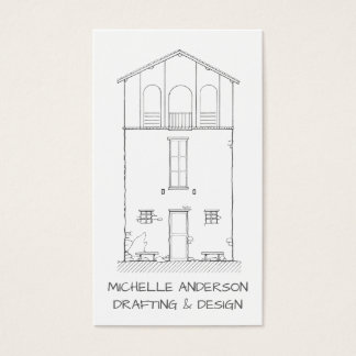 Einfaches Haus-modernes unbedeutendes berufliches Visitenkarte