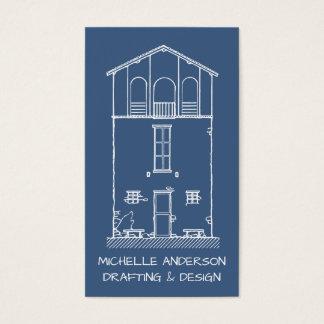 Einfaches Haus-Plan-Zeichnen beruflich Visitenkarte