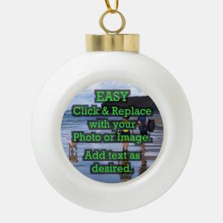 Einfaches Klicken u. ersetzt Bild, um Ihre Selbst Keramik Kugel-Ornament
