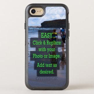 Einfaches Klicken u. ersetzt Foto, um Ihre Selbst OtterBox Symmetry iPhone 8/7 Hülle