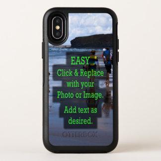 Einfaches Klicken u. ersetzt Foto, um Ihre Selbst OtterBox Symmetry iPhone X Hülle
