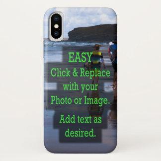 Einfaches Klicken und ersetzt Foto, um Ihre Selbst iPhone X Hülle