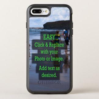 Einfaches Klicken und ersetzt Foto, um Ihre Selbst OtterBox Symmetry iPhone 8 Plus/7 Plus Hülle