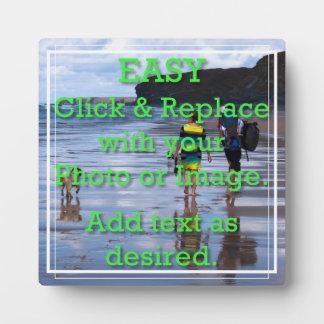 Einfaches Klicken, zum Ihrer eigenen weißen Linie Fotoplatte