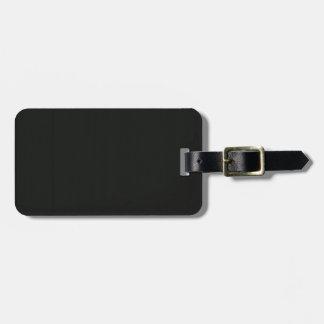 Einfaches leeres schwarzes Grau DIY addieren Kofferanhänger
