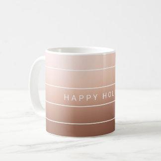 Einfaches modernes frohe Feiertage Kaffeetasse