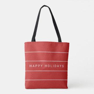 Einfaches modernes frohe Feiertage Tasche
