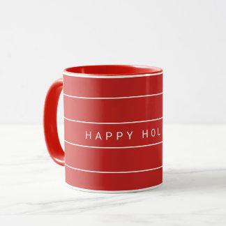 Einfaches modernes frohe Feiertage Tasse