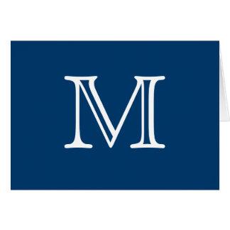 Einfaches Monogramm-blauer weißer freier Raum nach Karte