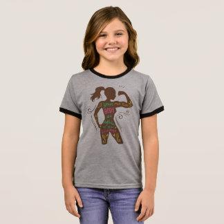 Einfaches motivierend Wecker-Shirt des Ringer T-Shirt