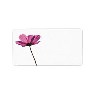 Einfaches pink Warenkennzeichenflower Adressetikett