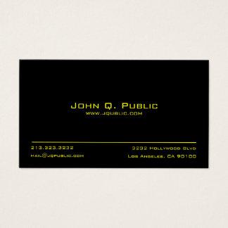 Einfaches schwarzes berufliches visitenkarte