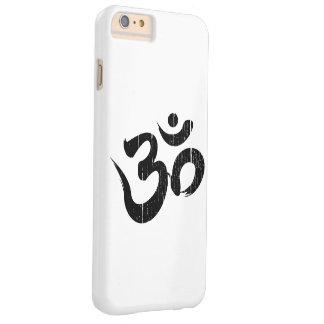 Einfaches schwarzes u. Weiß verkratztes Barely There iPhone 6 Plus Hülle