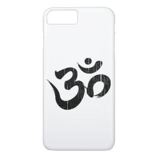 Einfaches schwarzes u. Weiß verkratztes iPhone 7 Plus Hülle