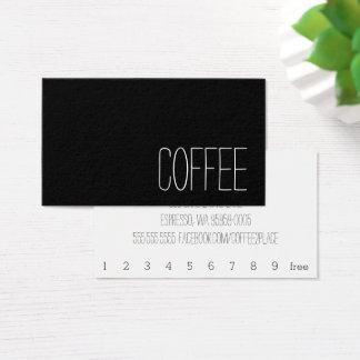 Einfaches Stymie-Wort-dunkle Visitenkarte