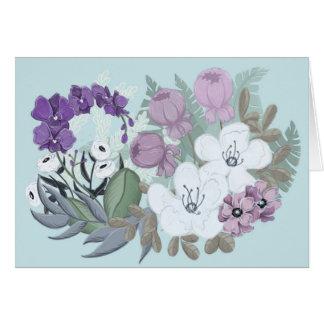 Einfaches und elegantes BlumenNotecard Karte