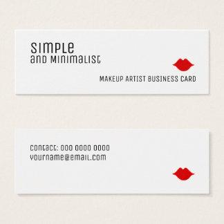 einfaches und unbedeutendes elegantes Make-up Mini Visitenkarte