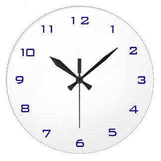 Einfaches Weiß und Blue> einfache Küchen-Uhren Große Wanduhr