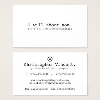 Einfaches weißes minimales lustiges sein okayim visitenkarte
