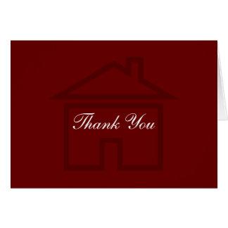 Einfaches wirkliches Anwesen-Geschäft danken Ihnen Mitteilungskarte