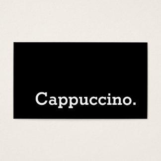 Einfaches Wort-dunkle Visitenkarte