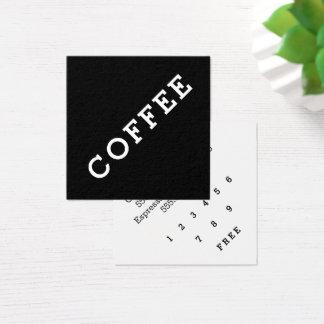 Einfaches Wort-dunkler Quadratische Visitenkarte
