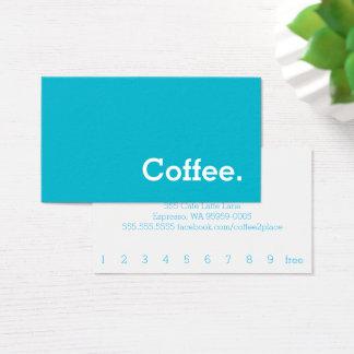 Einfaches Wort-helle Loyalitäts-Kaffee-Lochkarte Visitenkarte