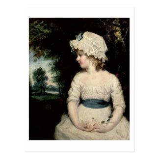 Einfachheit - ein Porträt von Fräulein Theophilia Postkarte